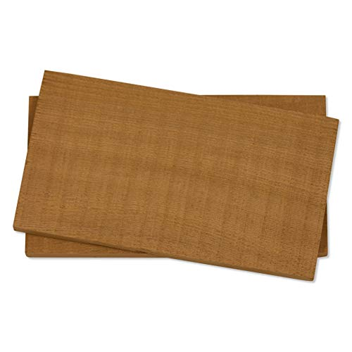 Fire & Flavor Natural Red Cedar Medium Grilling Planks, 4 x 7, Bulk Size 75 Count by Fire & Flavor