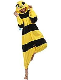 Caffia Unisex Adult Hooded Fleece Onesie Pajamas Animal Design Sleepsuit Cosplay Costume Sleepwear