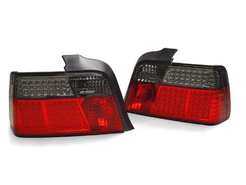 (DEPO Euro Red/Smoke LED Tail Light FIT 1992-1999 BMW E36 4 Door Sedan)