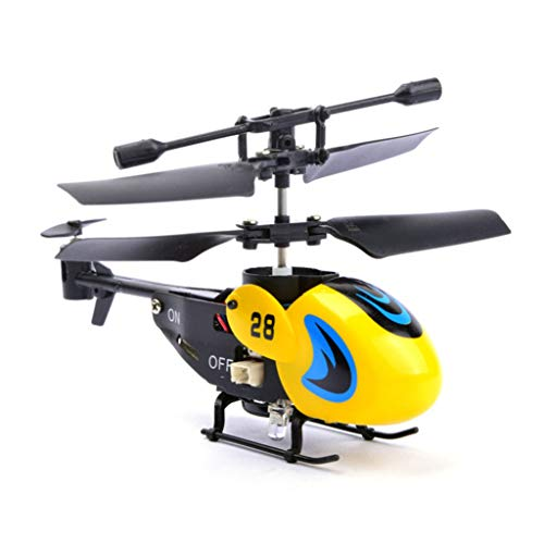 Noise Radio Aircraft (Longay RC 2CH Mini RC Helicopter Radio Remote Control Aircraft Micro 2 Channel (Yellow))
