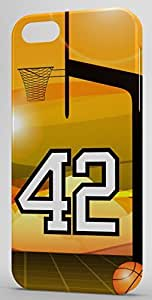 Basketball Sports Fan Player Number 42 Snap On Decorative iPhone 4/4s Case