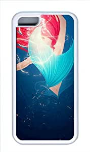 Durable iphone 5/5s iphone 5/5s Case, Black TPU Cases The Little Mermaid Ariel Zombie Style Black TPU Case for iphone 5/5s iphone 5/5s