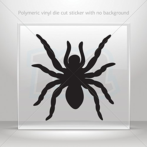 Stickers Decal Spider Figure Decoration Motorbike Bicycle Vehicle ATV Black (4 X 3.89 In)
