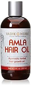 Amla Hair Oil (8 oz)- Ayurvedic herbal hair growth oil ~ Herbal scalp treatment ~ Great for hair loss, balding, thinning of hair, for beard growth, made with Amla (Amalaki) - Indian gooseberry
