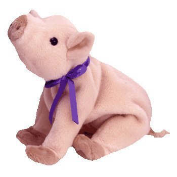 Ty Beanie Baby - Knuckles the - Baby Stuffed Beanie Pig