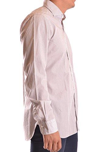 Barba Herren MCBI035002O Braun Baumwolle Hemd