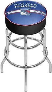 Trademark Gameroom NHL Chrome Bar Stool with Swivel-New York Rangers