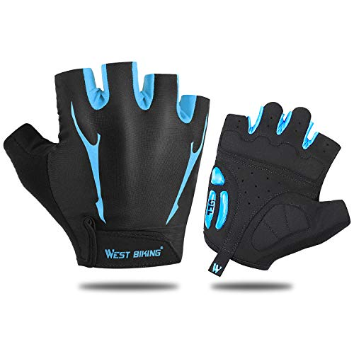 - WESTGIRL Cycling Gloves Half Finger Bike Gloves, Liquid Silicone Pad Shock-Absorbing, MTB Road Bike Gloves Anti Slip Breathable for Men Women