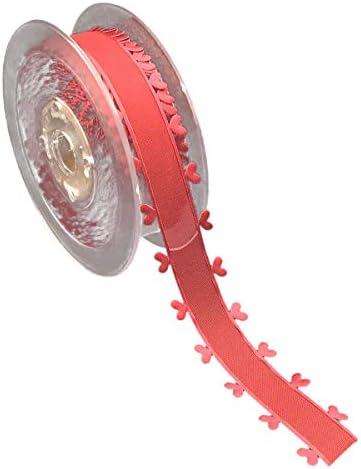 SUPVOX レースリボン ハートレースサイドリボン 刺繍 DIYクラフト クリスマス バレンタインデー 結婚式 ギフト 包装 招待状 アクセサリー