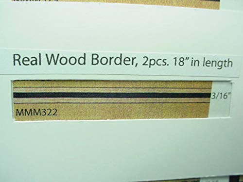 - Dollhouse Miniature Wood Inlay Border Strips (2) 18'' Length #MM322 Mini-Magic