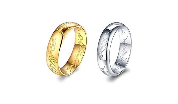 Triple Rainbow Line Fashion Stainless Steel Jewelry JEWURA Couple Love Ring