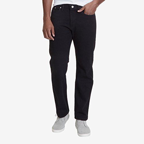 Nautica Men's Black Wash Relaxed Fit Jean, 33x30