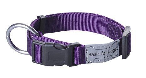 Wouapy Basic Line Wouapy Dog Collar, 20/30 cm, Purple