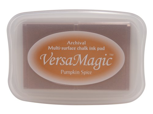 Stazon Pumpkin - Tsukineko Full-Size VersaMagic Chalk-Finish, Pumpkin Spice
