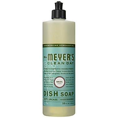 Mrs. Meyer's Clean Day Liquid Dish Soap Basil - 16 fl oz - 2 Pack