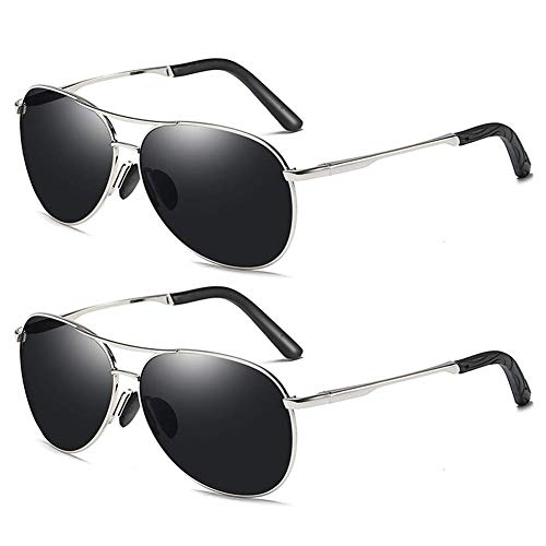 Polarized Sunglasses Europe and America Men's Color Changing Sunglasses Day and Night Vision Dual Polarizer (2 Pack) (Cat Eye Wayfarer Sonnenbrille)
