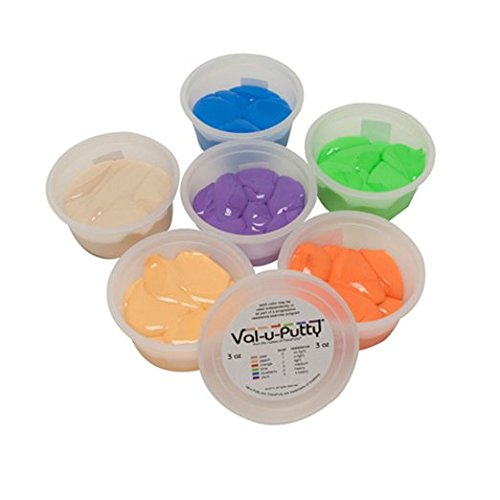 Fabrication Enterprises Val-u-Putty Exercise Putty - 6 Piece Set - 3 oz