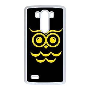 LG G3 Cell Phone Case White Chi Omega Black Owl V6M4CT