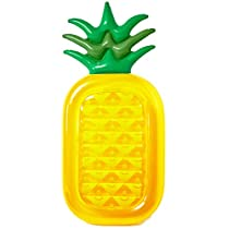 Inflatable Pineapple Pool Float Raft [VICKEA] Large Outdoor Swimming Pool  Inflatable Float Toy Floatie