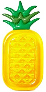 Inflatable Pineapple Pool Float Raft [VICKEA] Large Outdoor Swimming Pool Inflatable Float Toy Floatie Lounge Toy for Adults & Kids