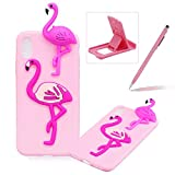 TPU Case for iPhone XR,Soft Rubber Cover for iPhone XR,Herzzer Ultra Slim Stylish 3D Flamingo Series Design Scratch Resistant Shock Absorbing Flexible Silicone Back Case