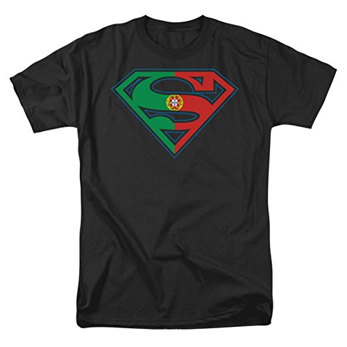 Trevco Superman Portugal Flag Shield Logo Men's T-Shirt