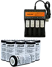 12 Rechargeable Batteries & Charger 3.7V 700mAh Rechargeable Batteries for Arlo & Reolink
