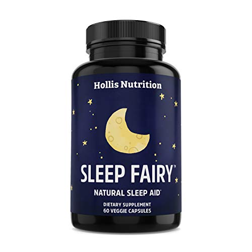SLEEP FAIRY Natural Sleep Aid - Non-Habit Forming - Stress, Anxiety & Insomnia Relief Supplement - Herbal Sleeping Pills for Adults w/ Valerian Root, L-Theanine, Magnesium, Melatonin - 60 Vegan Caps