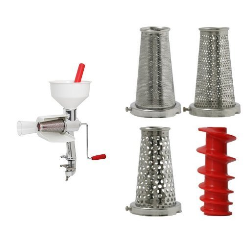 - Victorio 250 Food Strainer (Special Package Includes Strainer and 4 pc Accessory Pack)