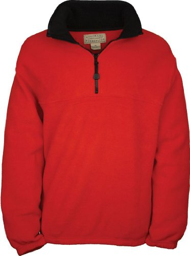 Colorado Fleece - Colorado Timberline Mens Steamboat 1/4 Zip Fleece Pullover-L (Red)