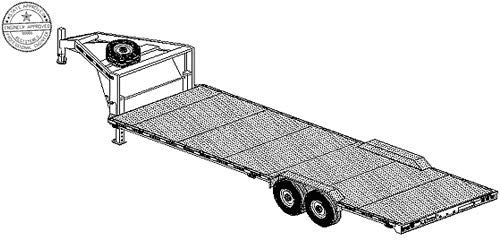 26XT Trailer Plan - 26'x102 Tandem Axle 14K Gooseneck Trailer DIY How-to Blueprint by Master Plans & Design