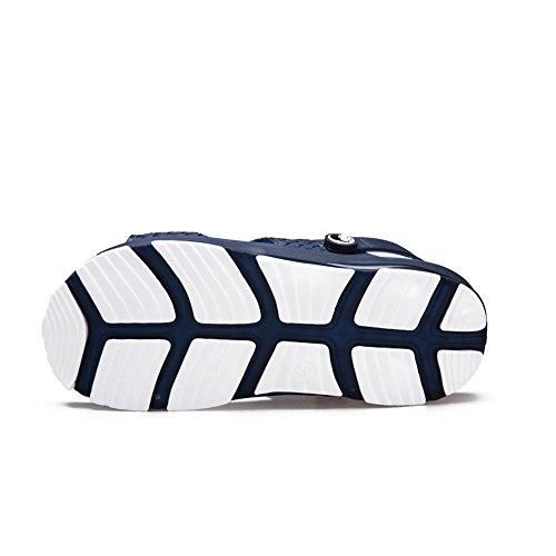 caviglia flatless amp;Baby Sunny Nero Sandali cinturino EU Color 44 Antiscivolo Scuro Blu alla da uomo con Dimensione wSEAW8qE