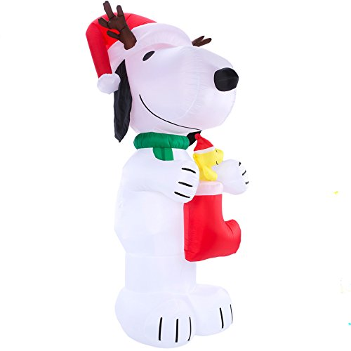 Peanuts Lighted Snoopy Christmas Inflatable10-ft x 4.49-ft