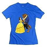 Jiuzhou Women's T Shirt Beauty Beast XS RoyalBlue