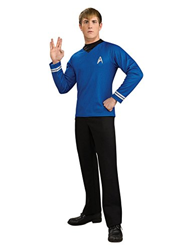 Rubie's Star Trek Into Darkness Deluxe Spock Shirt With Emblem, Blue, X-Large -