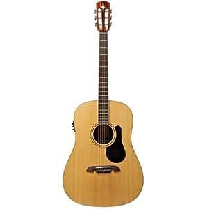 alvarez ard70e dreadnought round shoulders acoustic electric guitar musical instruments. Black Bedroom Furniture Sets. Home Design Ideas