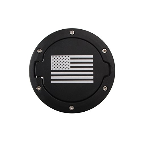 Price comparison product image Bangbangche Gas Fuel Tank Cap Cover Lid,  Universal for 2007-2017 Jeep Wrangler JK,  with American Flag,  Good Tightness