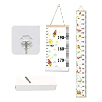 Bingolar Kids Growth Chart, Children Height Chart Growth Wall Chart Height Wall Chart Art Hanging Rulers for Kids Bedroom Nursery Wall Decor Removable Height and Growth Chart(F7.9 x 79in)