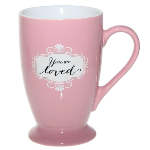 "Pink ""You are loved"" Café Mug"