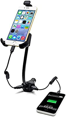 omygo 360 grados rotación coche soporte para teléfono con 3 USB ...
