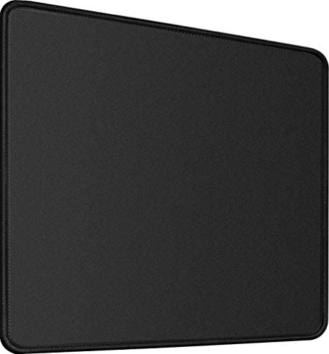 "Mouse Pad,Upgraded Mouse Pad with Durable Stitched Edge,11.8""x9.8""x0.12"" 30% Larger Big Gaming Black Mouse pad,Non-Slip Rubber Base Waterproof Mouse Pad for Gaming,Laptop,Computer, Office,Home, Black"