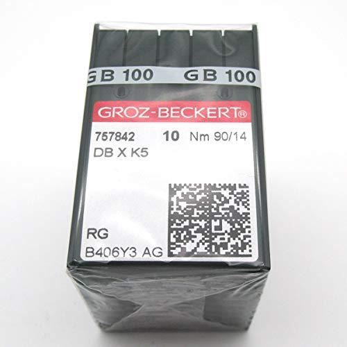 KUNPENG - 100 Groz Beckert DBXK5 Embroidery Sewing Machine Needles FIT for Tajima Barudan SWF (Size 65/9)