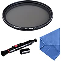 Beschoi 67mm ND Lens Filters Kit ND Fader Neutral Density Adjustable Variable Filter (ND2 to ND400) Ultra Slim Optical Glass for Digital DSLR Camera lenses, with Cleaning Cloth + Cleaning Pen