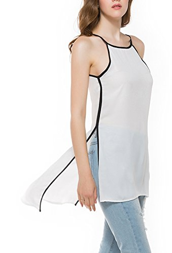 Fraue Beachwear Bluse Im Bikini Rundkragen Trägerlos Trägertop Rückenausschnitt Vorne Kurzhinten Lang Geöffnete Gabel Tunika Tops