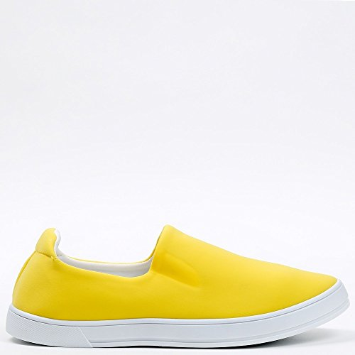 Ideal Shoes Slip-On Neopren Kaina Gelb