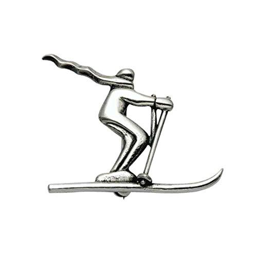 - Sterling Silver Skier w/Scarf Pin