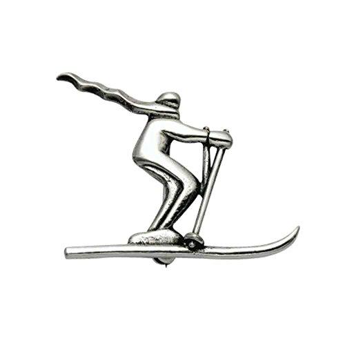 (Sterling Silver Skier w/Scarf Pin)