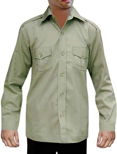 INMONARCH Zoo KeeperCostume Shirts Cotton 2 Pocket Bush BoyScout Shirts HS114X-LARGE X-Large Green