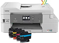 The Brother MFCJ995DW XL Extended Print INKvestment Tank color inkjet all-in-one printer with tank technology is the optimal choice for your home or small office needs. The MFC-J995DW XL features reengineered INKvestment Tank cartridges along...