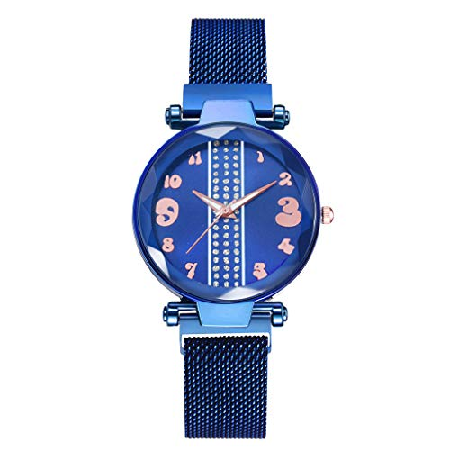 (Mesh Bracelet Watch Londony❀♪Creative Simplicity Women Watch Mesh Band Elegant Watches Ladies Business Wristwatch)